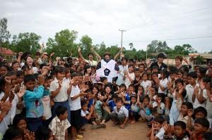 カンボジアグラウンド落成式