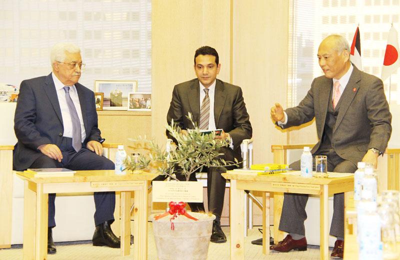 パレスチナのアッバス議長、舛添都知事を表敬