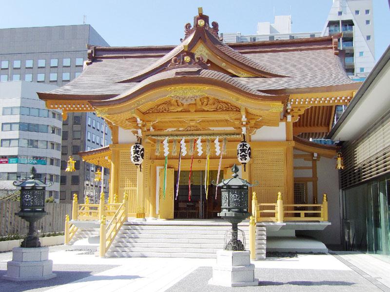 水天宮の新社殿が完成、境内全体の耐震性を強化