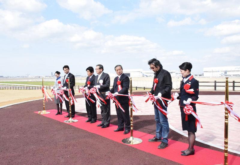 成田空港滑走路の隣接地に撮影用公園がオープン