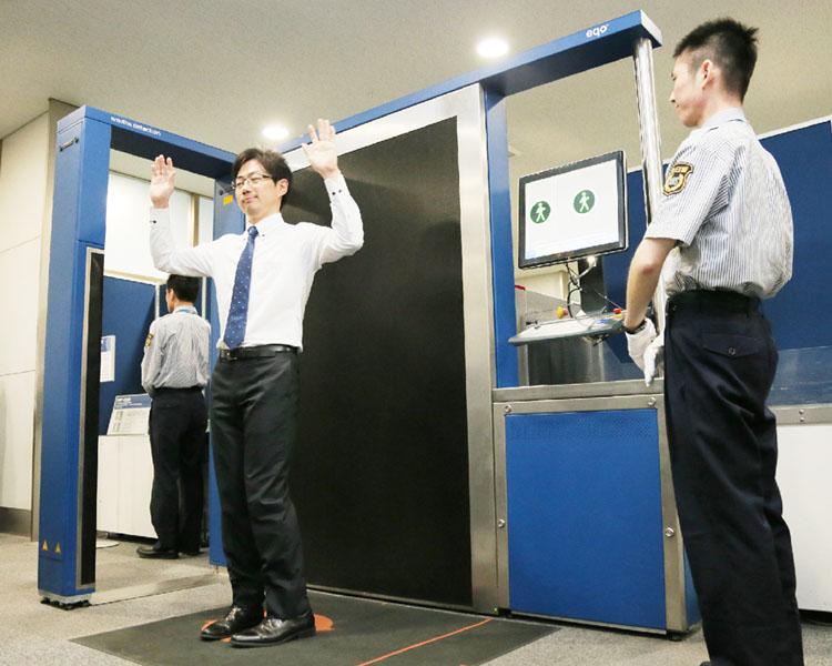 中部国際空港、最新鋭のボディースキャナー導入