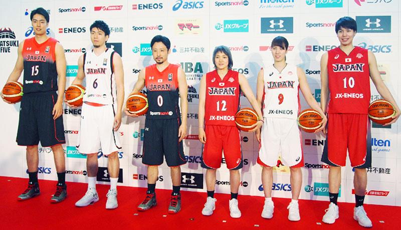バスケ日本代表、新愛称は「アカツキ・ファイブ」