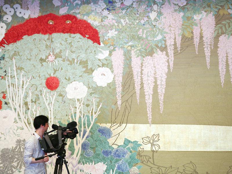 京都迎賓館で試験公開の見学コースが報道公開