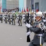 台湾国防部(防衛省に相当)の連合楽儀隊(マーチングバンド)による銃を使った演武が行われた