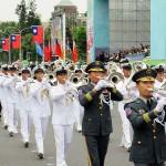 台湾国防部(防衛省に相当)の連合楽儀隊(マーチングバンド)による演奏