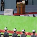 就任演説を行う蔡英文新総統