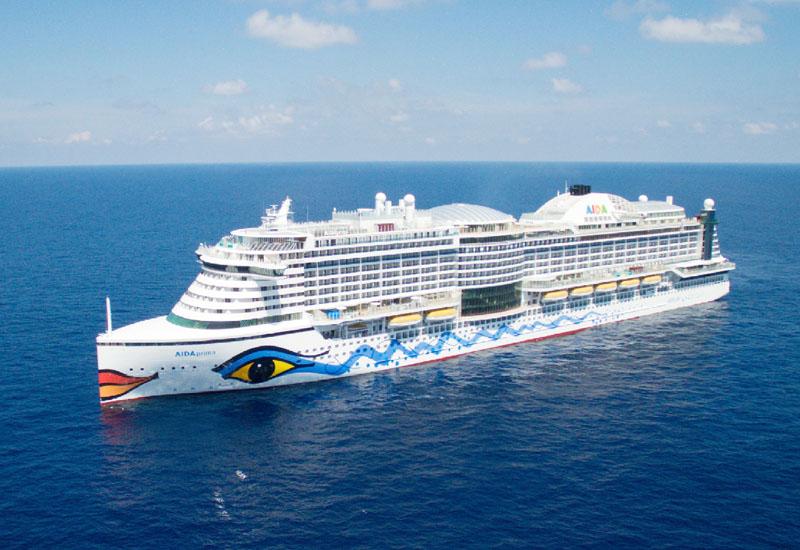 三菱重工業、豪華客船「アイーダ・プリマ」を披露