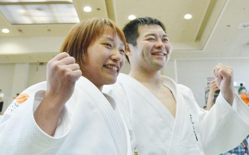 夫婦で激励、そろってパラリンピックへの切符
