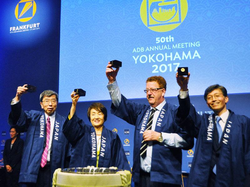 林文子市長がフランクフルトで横浜をアピール