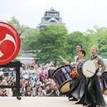 熊本城に和太鼓の響き