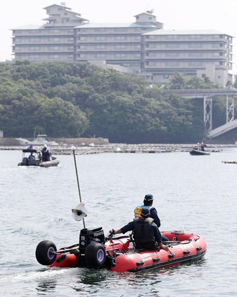 伊勢志摩サミットを控え、賢島周辺の海上警備