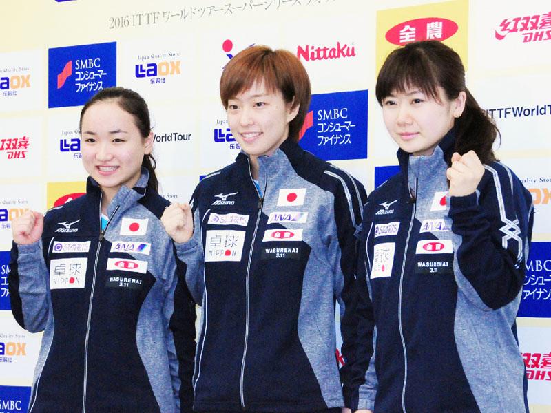 石川佳純「試合が楽しみ、目の前の相手に全力で」