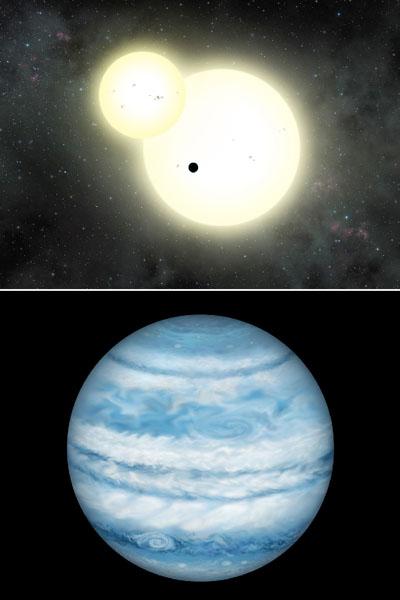 3700光年先にある連星で最大の惑星、木星に類似