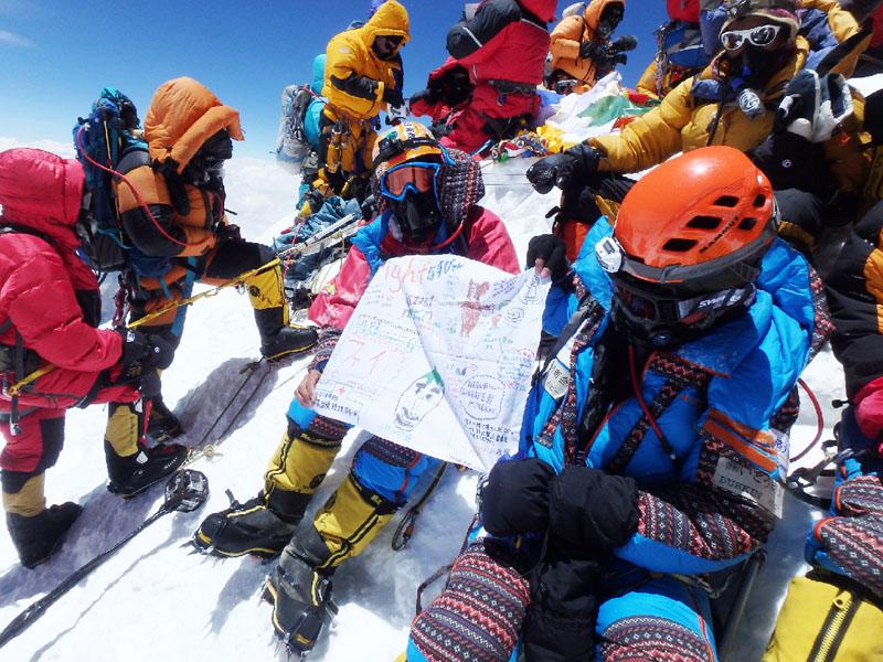 エベレストへの登頂を福島の病児らに帰国報告