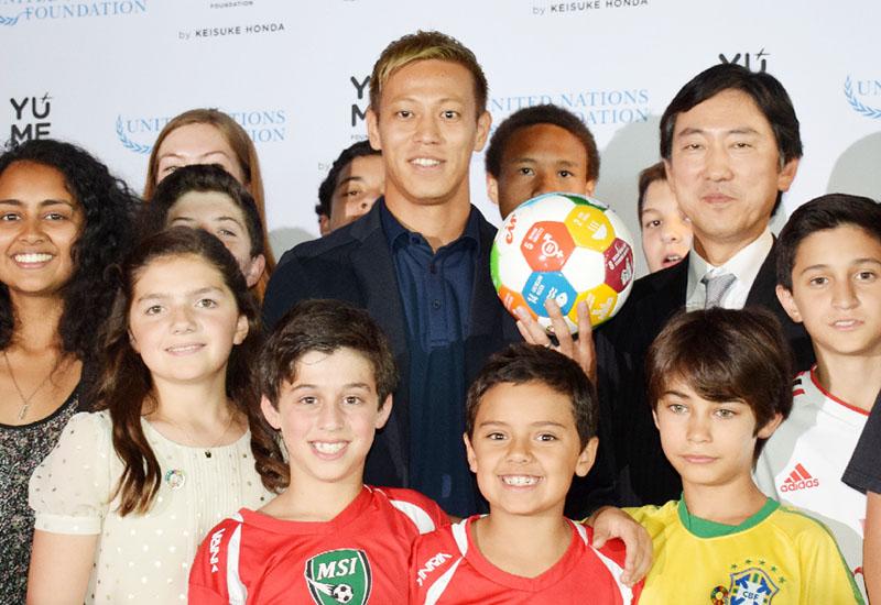 「国連財団」が本田圭佑選手を教育支援の司令塔に