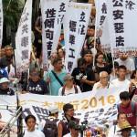 7月1日の民主化デモは中国で拘束後、香港にもどったジャーナリストの程翔氏らが参加。銅鑼湾書店の林栄基本元店長は安全上の都合で参加を見送った