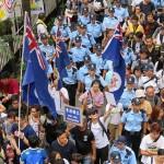 7月1日の民主化デモでは、香港を英国領に戻した後、独立することを主張するグループもある
