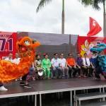7月1日、香港の尖沙咀(チムサーチョイ)で行われた親中派団体「愛港之声」などが主催した愛国愛港大連盟による香港返還19周年記念イベント