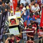 7月1日の民主化デモは香港の梁振英行政長官辞任を求める動きが目立った
