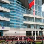 7月1日、香港中心部の湾仔(ワンチャイ)にある金紫荊広場で行われた国旗掲揚式