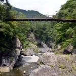 吊り橋の鳩ノ巣小橋