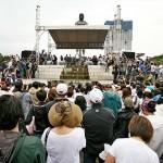 会場となったリサール公園のラプラプ像前