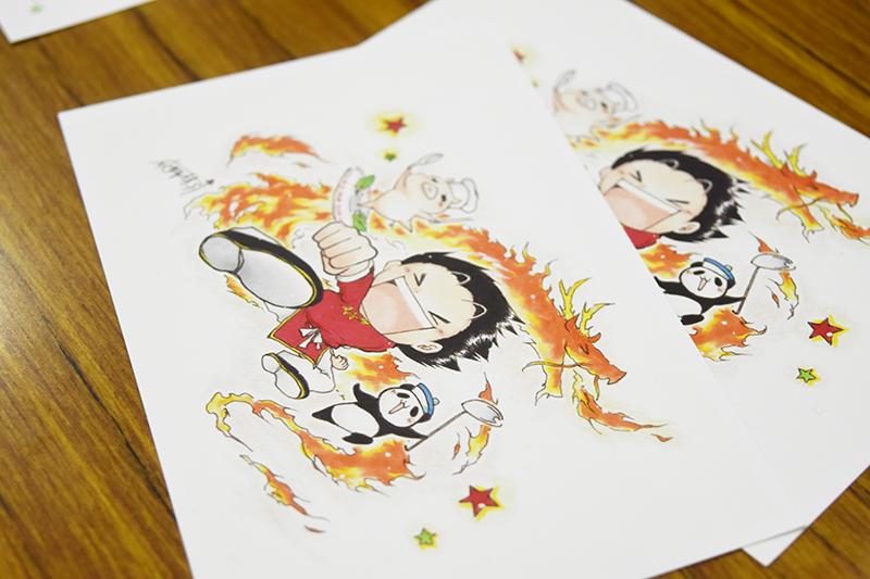 会場で販売されていた絵葉書。これ以外にも可愛らしいイラストの絵葉書が並べられていた。