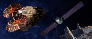 LucyとPsycheミッションの想像図(NASA)