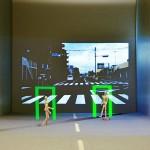 歩行者を3次元的にカラー表示する技術を開発