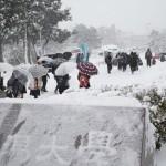 センター試験始まる、雪で8会場開始繰り下げ