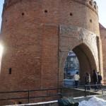 クラクフ旧市街入り口付近にあるバルバカン(円形の砦)。ここから旧市街へと入ります。
