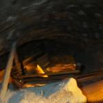 ヴィエリチカ岩塩坑 息を切らしながら登った何段も連なる階段