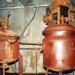 北朝鮮の化学工場の機材