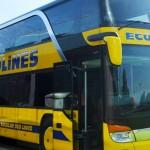 二階建てのEcolines busの様子
