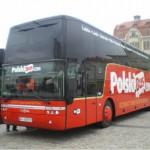 クラクフからワルシャワに行く時の二階建てPolskibus