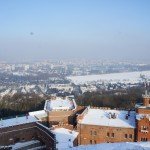 コシチュシコ山頂上からの町の風景 快晴で写真日和