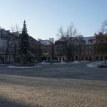 ワルシャワ旧市街市場 クリスマスマーケットが終わり殺風景な世界