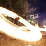 熊本地震で被災した阿蘇神社で「火振り神事」