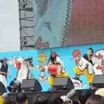 ステージイベントのオープニングを飾った沖縄のエイサー太鼓