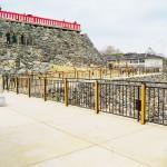 郡山城天守台に展望施設が4年がかりで完成