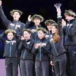 日本、国別対抗フィギュアで3大会ぶりに優勝
