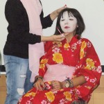 アインシャムス大学で学生が日本文化を紹介