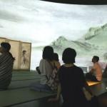 びょうぶの絵の世界を複製と映像による体験