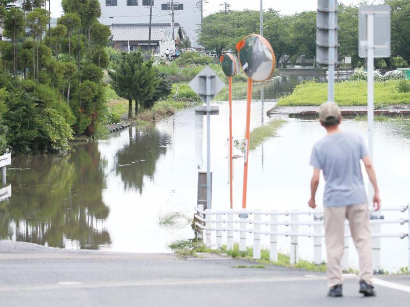 東海地方で局地的に豪雨に見舞われる