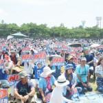 辺野古移設反対の翁長知事支える「県民大会」