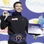 文田健一郎が歴史刻む金、ライバルの激励に奮起
