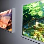 新海 誠氏の「君の名は。」。会場内では背景画やメインビジュアルが展示。
