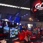 PlayStationブースではグランツーリスモシリーズ最新作「グランツーリスモ スポーツ」が展示