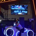JPPVRブースでは、実際にバイクを操縦する様な体感型VRコンテンツを提供