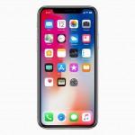 アイフォン10周年を記念したモデルとなるアイフォンX。ホームボタンがない全面スクリーンで、顔認証によるロック解除だ。